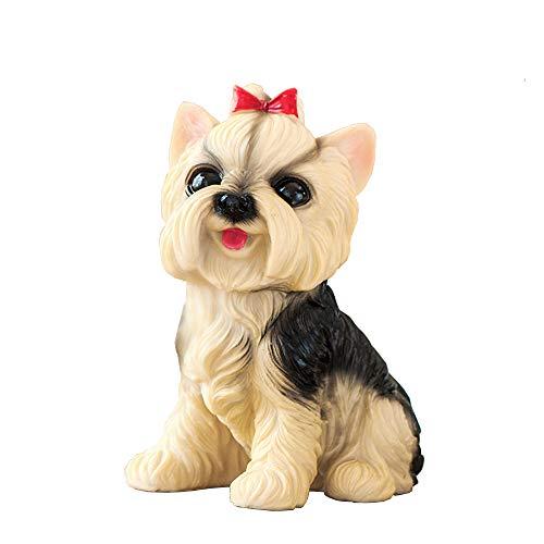 (Puppy Dog Statue Pet Figurine Animal Sculptures Home Decor Yorkshire Terrier)