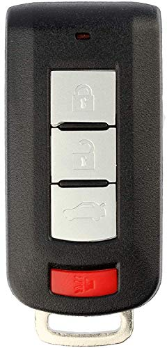 (KeylessOption Keyless Entry Remote Smart Car Key Fob Transmitter for Mitsubishi Outlander Lancer)