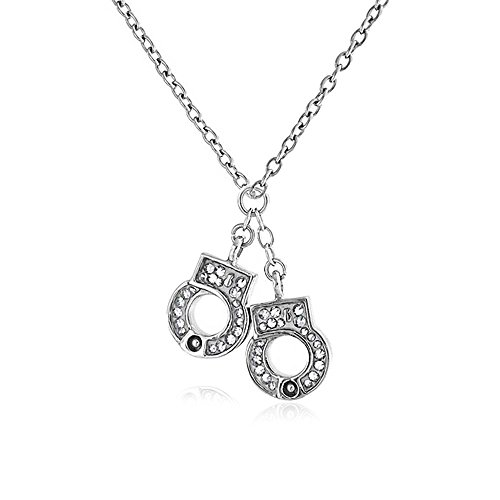 Bling Jewelry Secret Shades Crystal Handcuffs Stainless Steel Necklace 16 Inches by Bling Jewelry