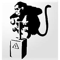 KEEN Monkey TNT Banksy Vinyl Decal Sticker Car Truck Van Wall Laptop BLACK 5.5 In KCD737