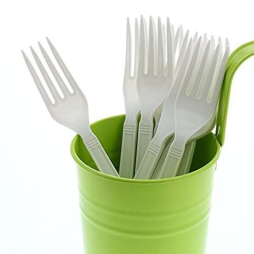 AmerCare White Heavy Weight Polypropylene Forks, Case of 1000