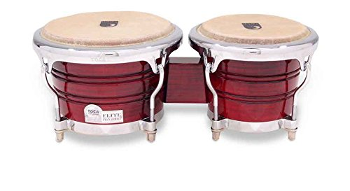 Toca Pro Elite Series Wood Bongos - Crimson Maple Fade