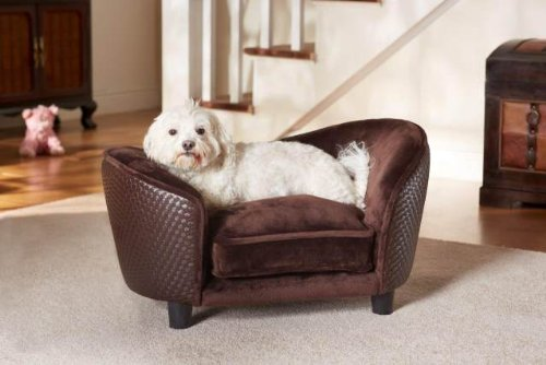 Plush Dog Sofa Bed With Storage High off floor Removable and Washable Covers