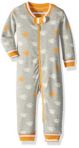 (Hatley Baby Boys Organic Cotton Sleepers, Silhouette Dragons, 0-3 Months)