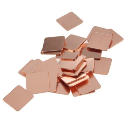 Vktech® Heatsink Copper Shim Thermal Pads for Laptop GPU CPU VGA 30Pcs 15mmx15mm