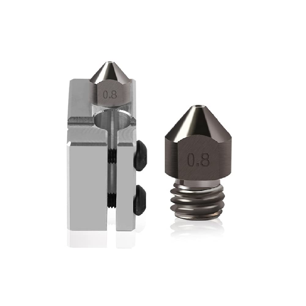 3D Printer Accessories Nozzle 1.75 consumables 0.2-1.0mmmk8 Nozzle Hardened Steel strengthening 3D Resistant consumables (0.6mm)