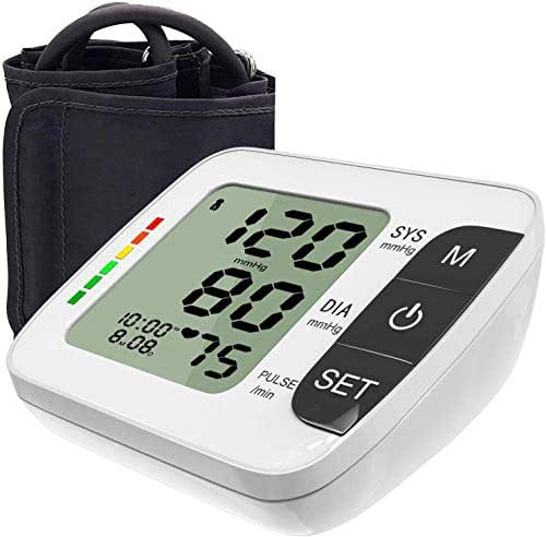 Blood Pressure Monitor Digital Upper Arm Blood Pressure Meter Irregular Pulse Rate Indicator - Talking Set, 120 Readings Memory, Ultra Large Adjustable Cuff for Home Use