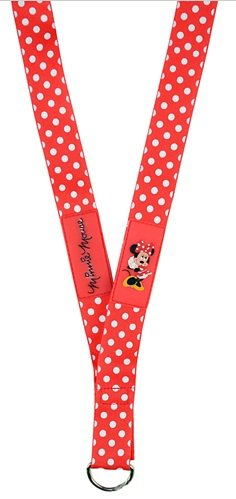 Disney Pin Accessory - Lanyard - Minnie Mouse WDW Red with White Polka Dots