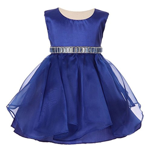 iGirlDress Baby Girls Organza Flower Girl Dresses 12Mon Royal Blue
