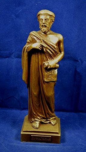 Pythagoras of Samos sculpture ancient Greek mathematician philosopher oxidation effect statue