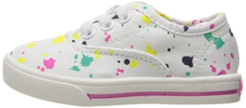 Carter's Piper Girl's Casual Sneaker, White/Print, 10 M US Toddler by Carter's (Image #5)