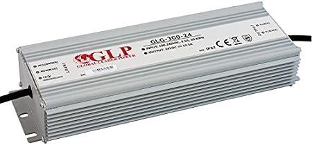 300W 24Vdc LED Power Supply, GLG-300-24, metal case, built-in active PFC function, IP67, Fuente de Alimentación, Transformador, 5 years warranty