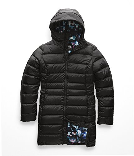 The North Face Women's Gotham Parka II - TNF Black & Multi Glitch Print - L (Black Down Parka)