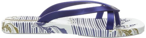 Kirey Fashion Weiß Ipanema White femme Blue 20032 Tongs 6OwBH1xq