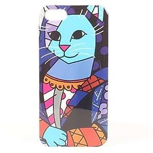 TY- Caso duro del patrón de la reina del gato para el iphone 5/5s