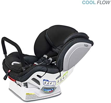 Britax Advocate ClickTight Anti-Rebound Bar Convertible Car Seat - 3 Layer Impact Protection - Rear & Forward Facing - 5 to 65 Pounds, Cool Flow Ventilating Fabric, Grey