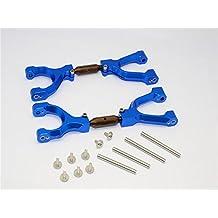 Traxxas X-Maxx 4X4 Upgrade Parts Spring Steel+Aluminum Front/Rear Adjustable Upper Arms - 1Pr Set Blue