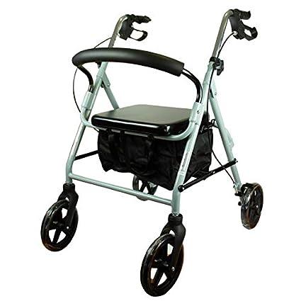 Mobiclinic Andador para Ancianos de 4 Ruedas | con Frenos en manetas, Altura Regulable,
