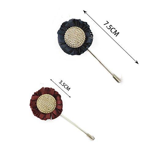 RuiLida Men's Polyester Sunflowers Flower Lapel Pin ...