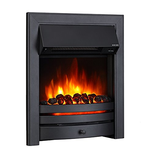 Endeavour Fires Roxby Inset Electric Fire, Black Trim and Fret, 220/240Vac...