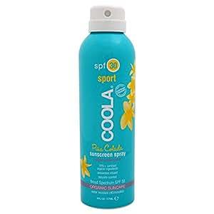 COOLA Organic Suncare, Eco-Lux Size, Pina Colada Body Sunscreen Spray, SPF 30, 8 fl. Ounce