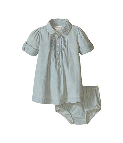 Ralph Lauren Baby Girls' Chambray Shirtdress Dress and Bloomer Set Indigo (3 Months)