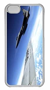 Customized iphone 5C PC Transparent Case - War Airplane 37 Personalized Cover