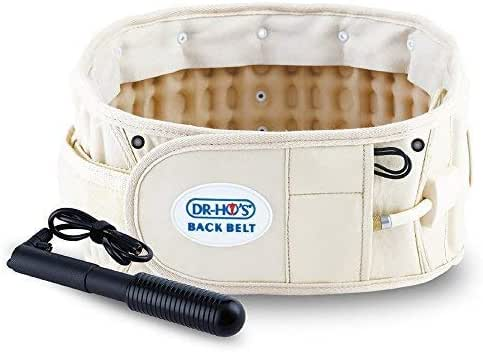 DR-HO'S 2-in-1 Decompression Belt For Lower Back Pain Relief and Lumbar Support - Basic Package - Size A (25-41 Inches)