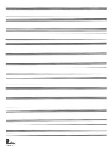 1. Manuscript Paper: 12-stave (formerly #51): Passantino Manuscript Paper (Passantino Manuscript Papers)