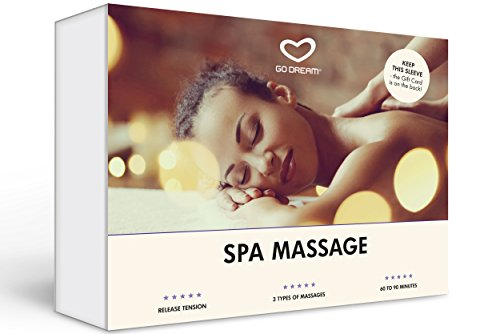 Spa Massage in Manhattan New York Experience Gift Card NYC - GO DREAM - Sent in a Gift - Experience Package Massage