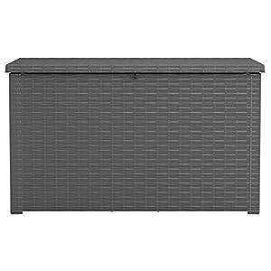 Keter Java XXL 230 Gallon Outdoor Deck Box Grey