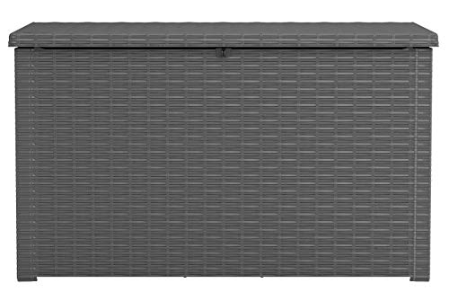 Keter 243529 Java XXL 230 Gallon Outdoor Storage Deck Box, Grey