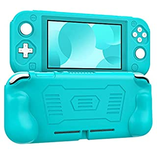 MoKo Grip Case for Nintendo Switch Lite, Anti-Collision Non-Slip Shockproof Silicone Case Cover Shell for Protecting Nintendo Switch Lite 2019 - Turquoise