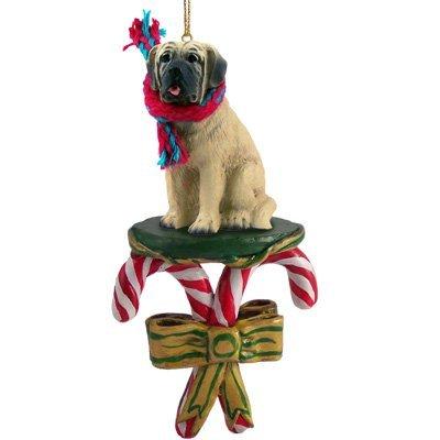 Mastiff Dog Ornament - MASTIFF Dog CANDY CANE Christmas Ornament NEW DCC49