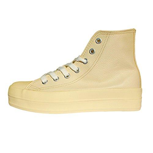 37 di store RAISE WAVE similpelle cm 5 3 con alte in Taglia MEDIA FRANKY Scarpe sneakers plateau Beige modello qwTzTR1