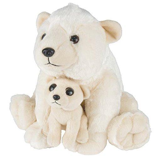 Adventure Planet Birth of Life Polar Bear with Baby Plush Toy 11