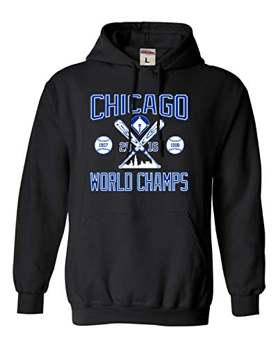 XX-Large Black Adult Chicago World Champs 2016 Sweatshirt Hoodie ()