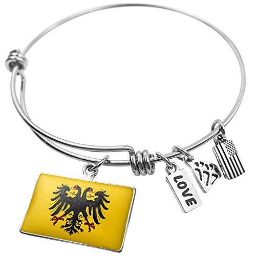Expandable Wire Bangle Bracelet The Holy Roman Empire (after 1400) Flag - NEONBLOND (Roman Bracelets Snake)