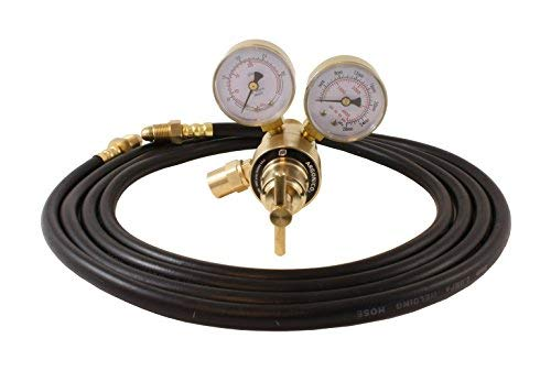 Industrial Argon Regulator/Flowmeter Gauges for MIG and TIG Welders + 10 Feet Hose - SÜA by SÜA