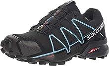 Salomon Speedcross 4 GTX W, Zapatillas de Trail Running para Mujer, Negro Black Black Metallic Bubble Blue, 36 2/3 EU