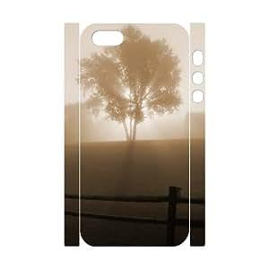 3D IPhone 5,5S Cases Foggy Morning, Design Foggy Cases Pharrel, {White}