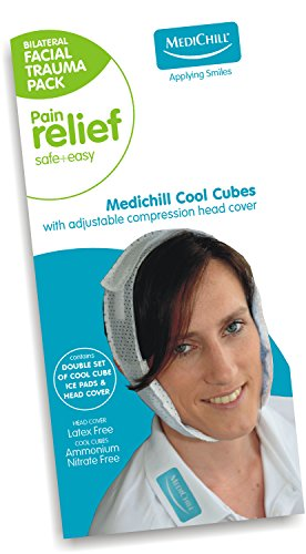 Medichill Cool Cubes Facial Trauma Ice Pack - Face Cold Pack for TMJ, Oral & Dental Surgery, Wisdom Teeth or Jaw Pain