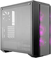 Cooler Master MasterBox Pro 5 RGB ATX Mid-Tower with Three 120mm RGB Fans, Front DarkMirror Panel, Tempered Glass, RGB...