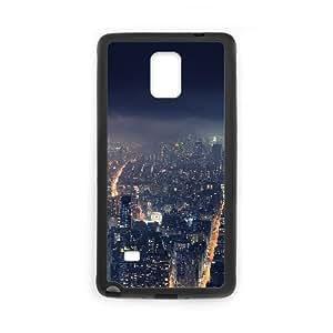 Samsung Galaxy Note 4 Cell Phone Case Black_Gotham City City Nature Iyixm