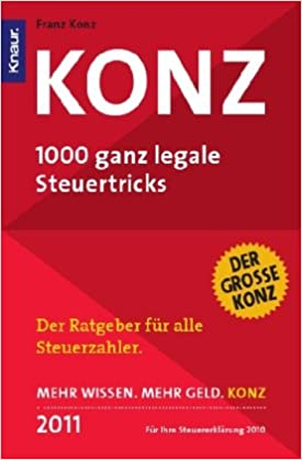Cover des Buchs: Konz: 1000 ganz legale Steuertricks