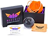 Maverix Photo Ball - PRO Edition - Pure K9 Crystal Ball - Size 80mm Lensball - Camera Lens - Photography Accessories and Photography Props - Includes Velvet Travel Bag and Microfiber Cleaning Cloth