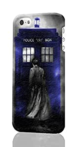 SUUER Doctor Who Tardis iPhone 5 5S Case , Designer Personalized Custom Plastic Hard CASE for iPhone 5 5S Durable New Style ROUGH Skin 3D Case Cover