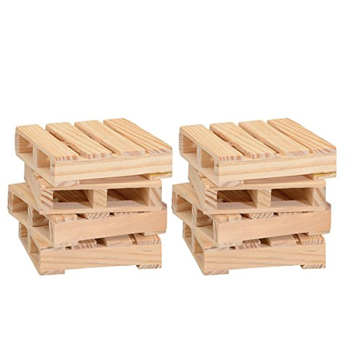 Thirsty Rhino Udara Wood Pallet Coasters (Set of 8)