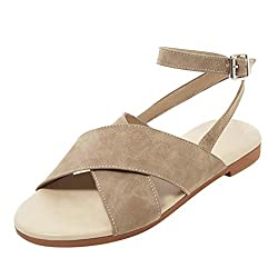 Kangmoon 2019 Women Summer Sandals Women S Sandals Open Toe Flat Shoes Belt Buckle Summer Beach Shoes Ladies Sandal