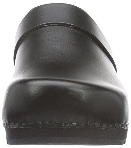 Sanita Unisex-Erwachsene Ralph Open Clogs Schwarz (Black 2)